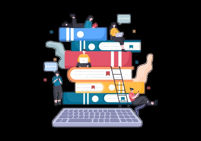 E-Library Illustration