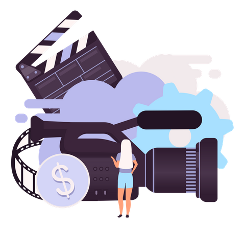 Earning revenue by video production Illustration