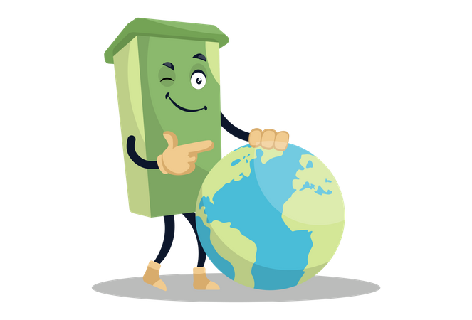 Earth cleanup Illustration