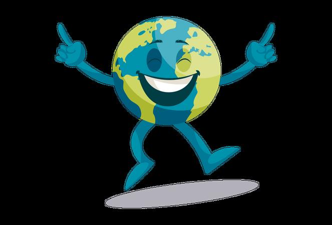 Earth is happy Illustration