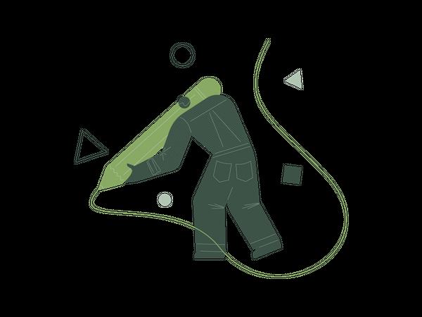 Easy draw Illustration