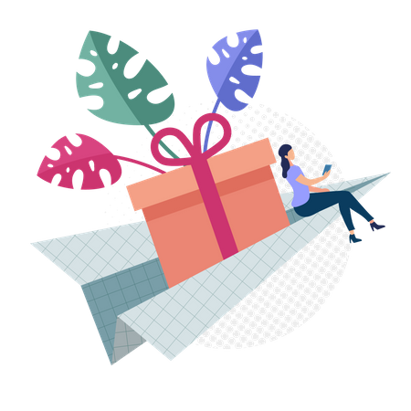 Easy Gift Delivery Concept Illustration
