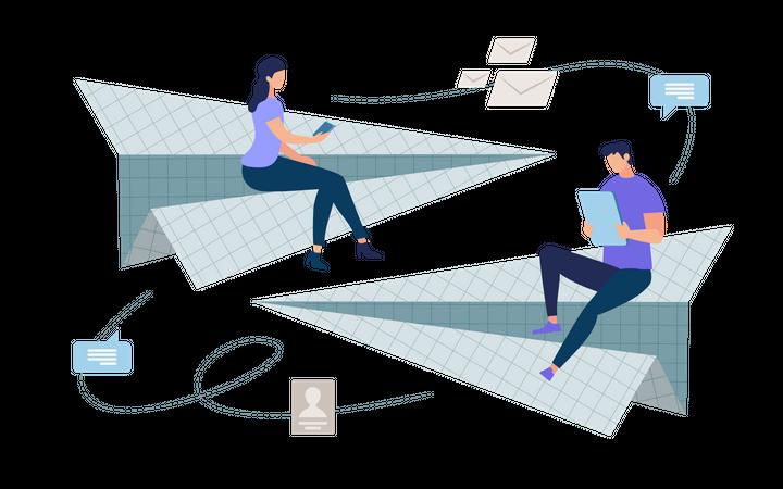 Easy Messaging Illustration