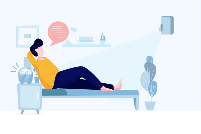 Easy voice command and optimization Illustration