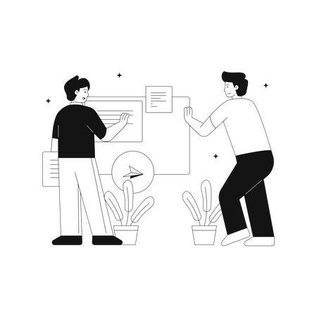 Easy work management Illustration