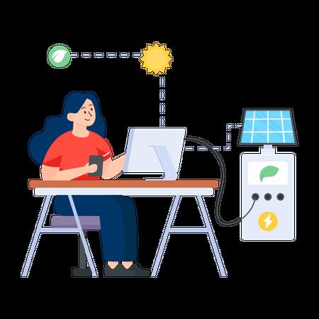Eco Charging Illustration