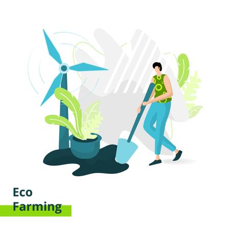 Eco Farming Illustration