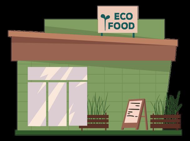 Eco Food Store Illustration