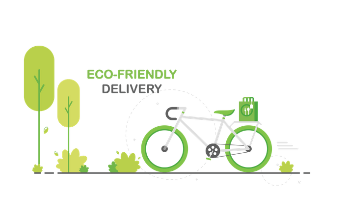 Eco-friendly delivery Illustration