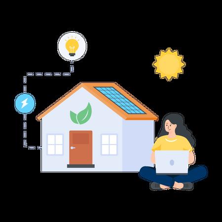 Eco Home Illustration