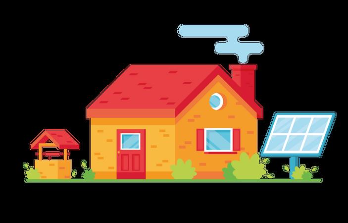 Eco house Illustration