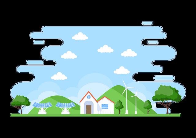 Ecological Energy Illustration