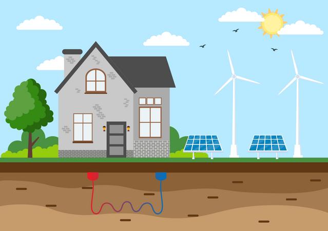 Ecological Energy Supply Illustration