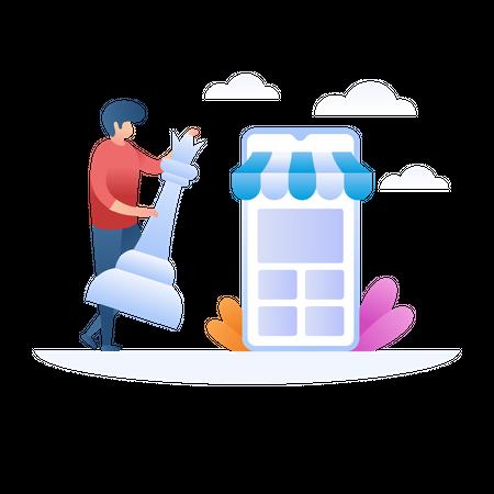 Ecommerce Strategy Illustration