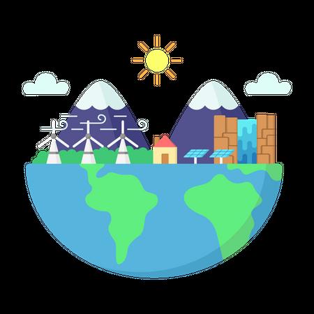 Ecosystem Illustration