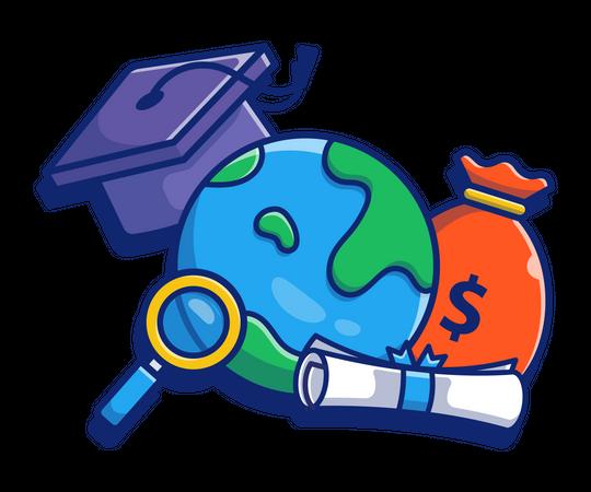 Education fees Illustration