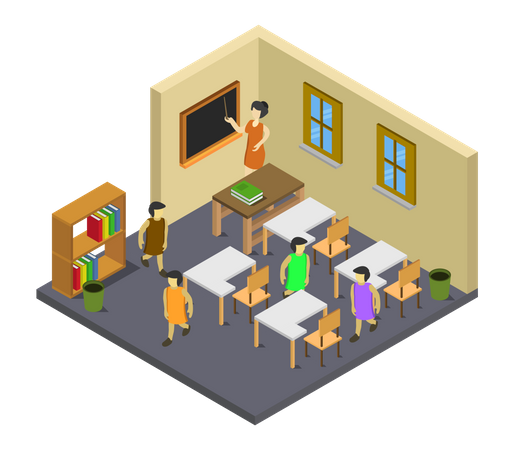 Education place Illustration