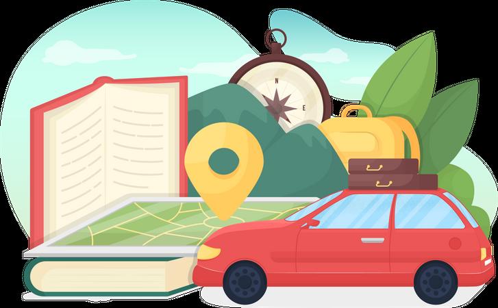 Education tourism Illustration
