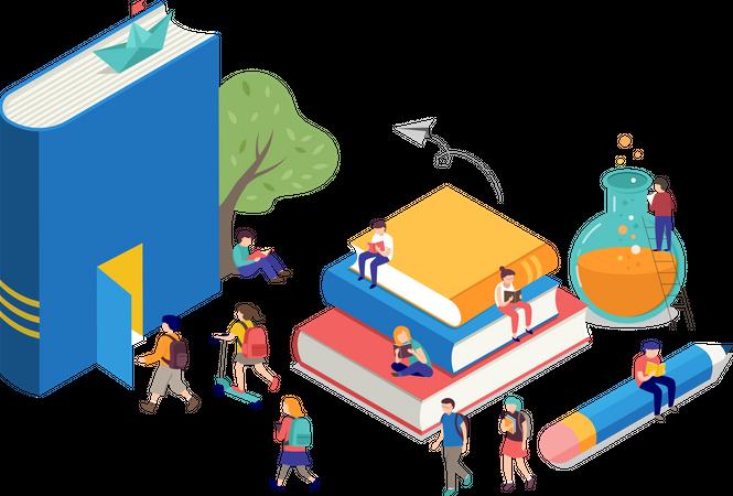 Educational Books Illustration