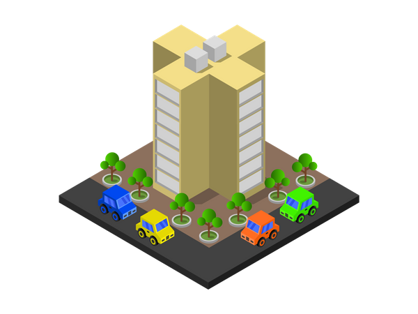Educational building Illustration
