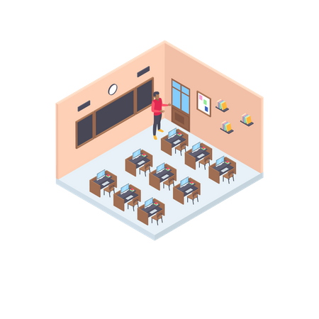 Educational Classroom Illustration