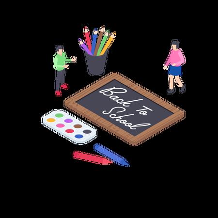 Educational Stationery Illustration