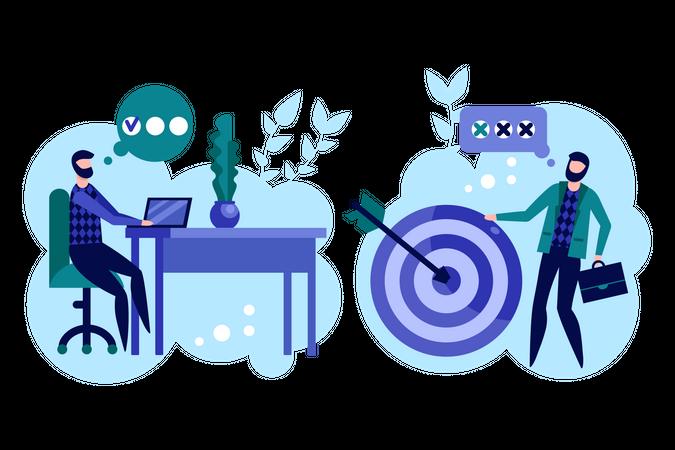 Effective business meeting Illustration