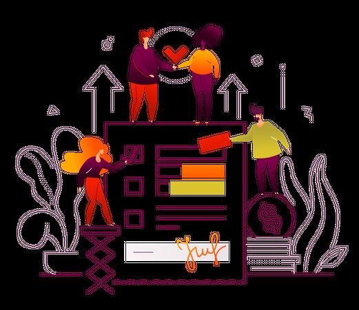 Efficient planning Illustration