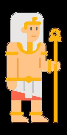 Egyptian King Illustration
