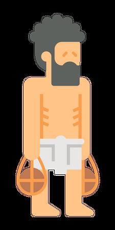 Egyptian Poor man Illustration