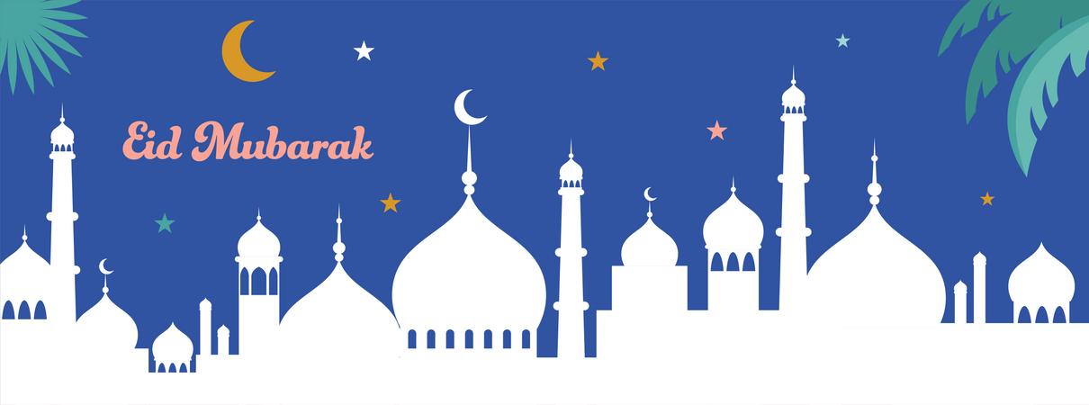 Eid mubarak Illustration