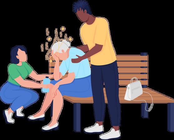 Elderly care Illustration