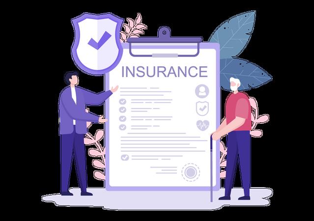 Elderly Insurance policy Illustration