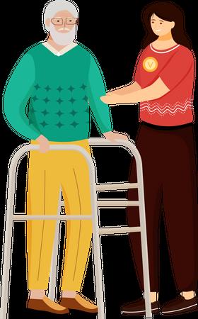 Elderly nursing Illustration