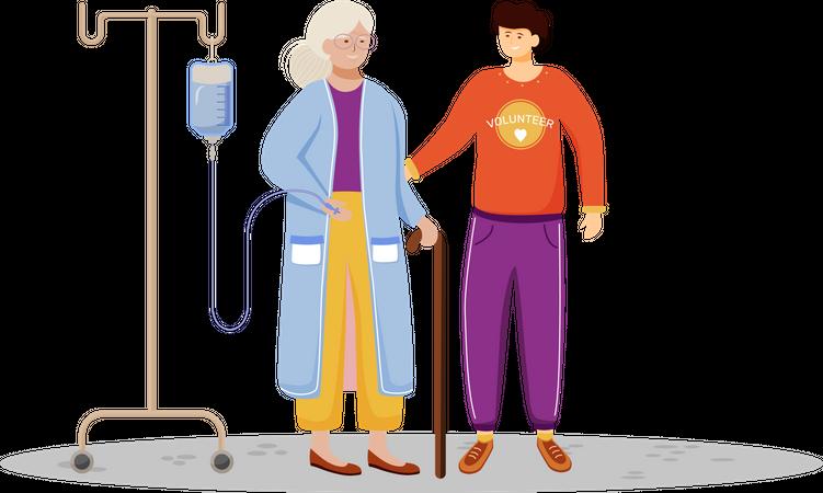 Elderly welfare Illustration