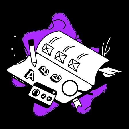 ELearning platform Illustration