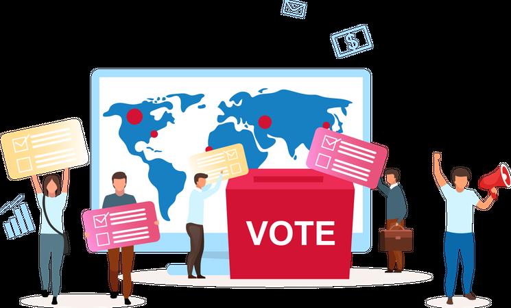 Election campaign Illustration