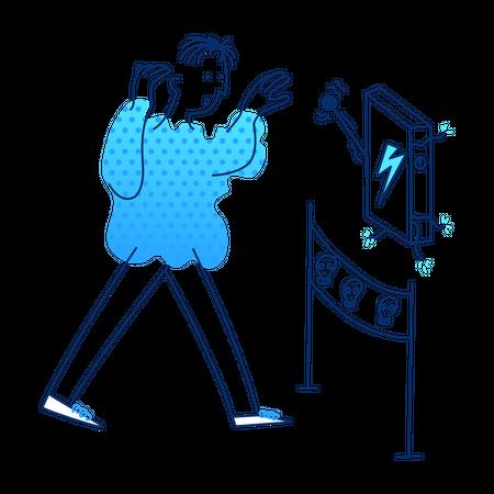 Electricity Danger Illustration