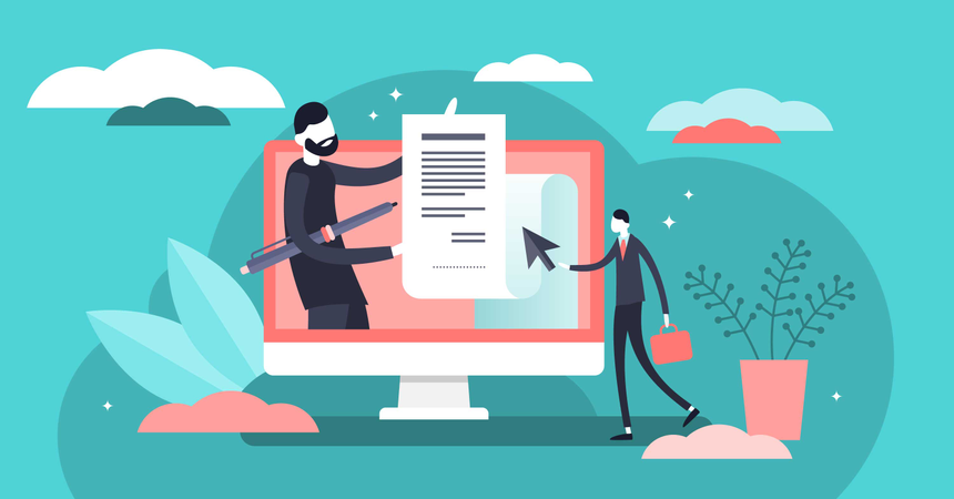 Electronic contract Illustration