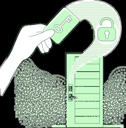 Electronic door key Illustration