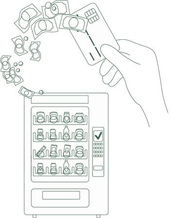 Electronic micropayment Illustration