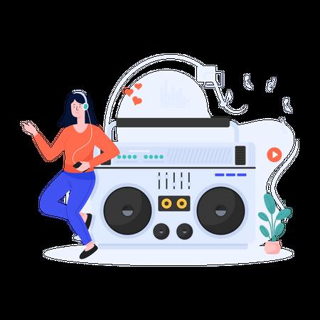 Electronic Music Illustration