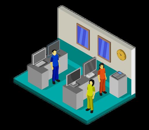 Electronic Shop Illustration