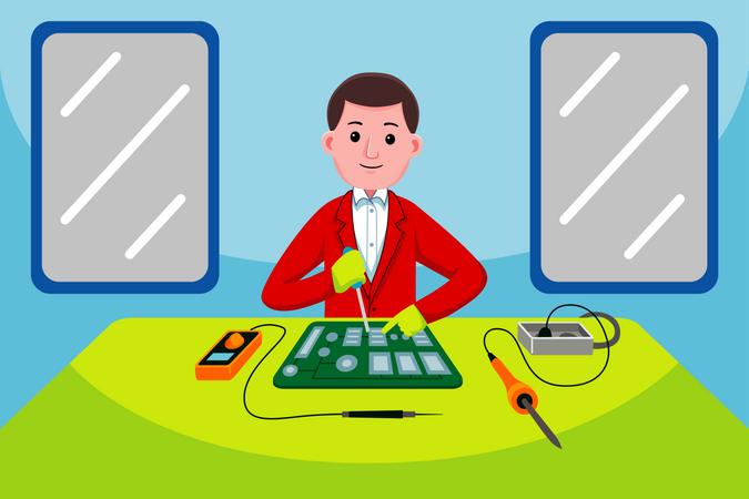 Electronic Technician Illustration