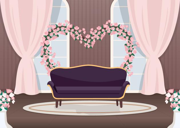 Elegant wedding photozone Illustration