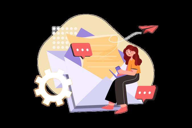 Email Advertisement Illustration