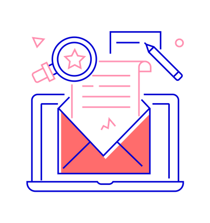 Email campaign Illustration