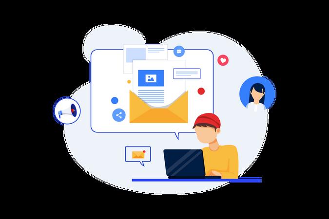 Email Marketing Concept Illustration