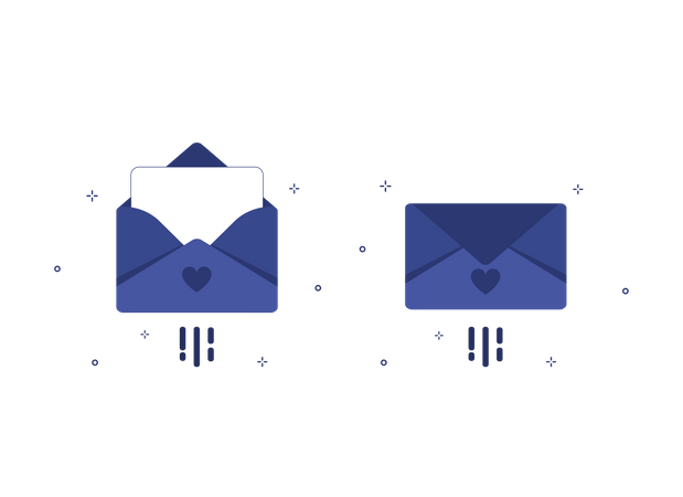 Email or letters Illustration