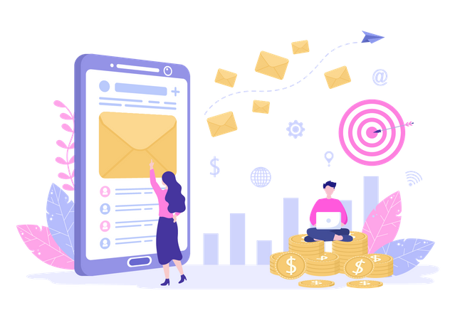 Email Promotion Illustration